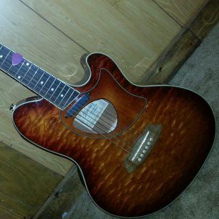 Ibanez Talman TCM50 Acoustic Electric Guitar Vintage Brown Sunburst