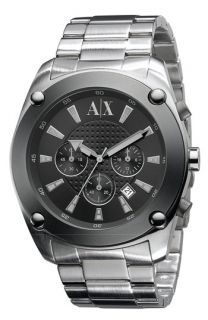 AX Armani Exchange Mens Stainless Steel Chronograph Watch
