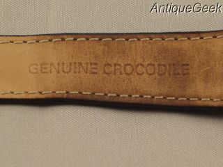Vintage Heuer Genuine Crocodile Band Deployant Tag