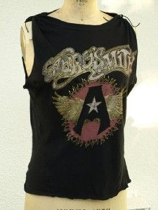 aerosmith retro rock roll anne darlene tshirt small