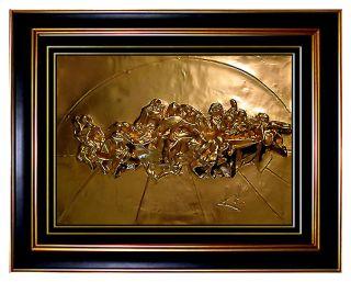 SALVADOR DALI Original SCULPTURE Relief GOLD Signed art The Last