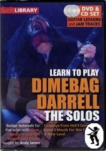 Learn to Play Dimebag Darrell The Solos Guitar DVD CD