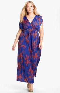 Tbags Los Angeles Surplice Knit Maxi Dress (Plus)