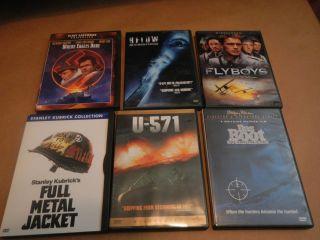 571 Das Boot Full Metal Jacket Where Eagle Dare Below Flyboys DVD
