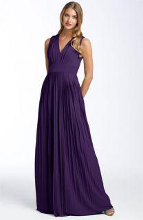 Calvin Klein Pleated Matte Jersey Gown