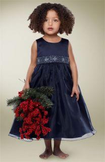 Us Angels Beaded Waist Satin Dress (Little Girls)