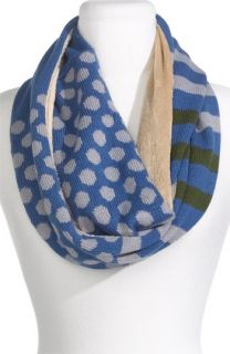 Tarnish Dot Stripe Circle Scarf