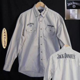 Wrangler Jack Daniels L s Button Up Western Rodeo Embroidered Shirt