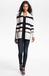 autumn cashmere Multi Stripe Drape Front Cardigan