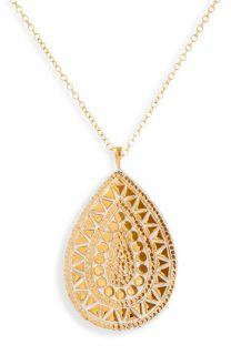 Anna Beck Papua Mosaic Teardrop Long Pendant Necklace