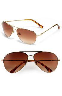 MICHAEL Michael Kors Semi Rimless Aviator Sunglasses