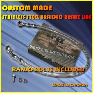 Yamaha Road Star Custom Stainless Steel Brake Line
