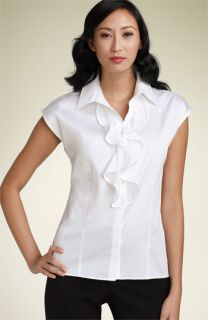 Paperwhite Stretch Sateen Blouse
