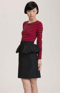 MARC BY MARC JACOBS Ellsworth Striped Peplum Dress