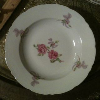 Fine Bohemian China Czechoslovakia Rose Bowl