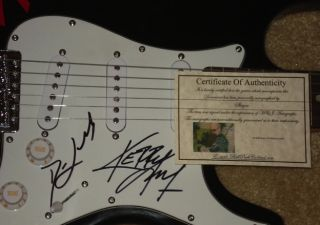 SLAYER AUTOGRAPHED GUITAR (KERRY KING & DAVE LOMBARDO) W/ PROOF