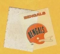 1972 Cloth Patch Pittsburgh Steelers 2 Bar Helmet Decal