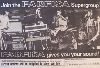 led zeppelin JOHN PAUL JONES SUN RA DADDY LONGLEGS 1971 Advert FARFISA