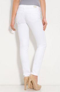 Paige Denim Skyline Skinny Stretch Denim Ankle Jeans (Optic White Wash)