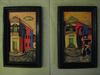 3D Relief Wall Hangings Latino Design Artist Name Dach Set of 2