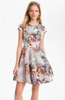 Ted Baker London Media Satin Fit & Flare Dress
