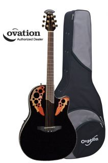 ovation celebrity deluxe cc48 acoustic electric guitar black w case