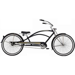 Stretch Beach Cruiser Bicycle Micargi Mustang GTS Chopper BLACK bike