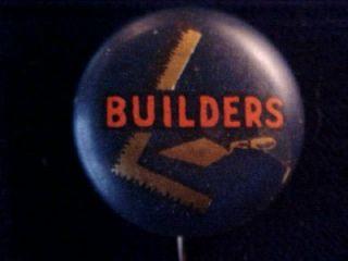 Vintage David C Cook Builders Elgin IL Pin Pinback