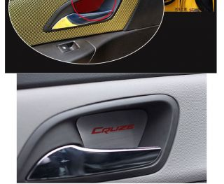 2009 2012 Chevy Cruze Stainless Steel Door Handle Cover Bowl Trim 4pcs