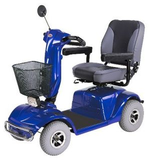 CTM HS 740 4 Wheel Road Class Electric Mobility Scooter Blue