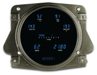 DAKOTA DIGITAL DASH 66   77 FORD BRONCO FULL 6 GAUGE CLUSTER VFD3 66F