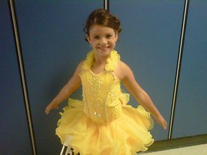 Girls Pageant Dress 6 7 8 National Winner Glitz Sunburst Yellow