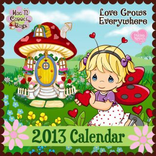 Precious Moments Wall Calendar Love Grows Everywhere Hug n Cuddle Bugs
