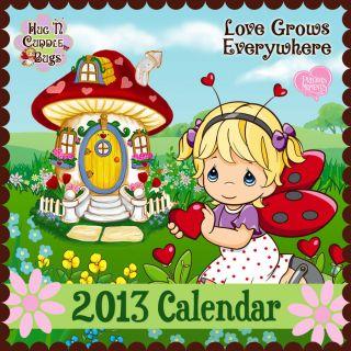 Precious Moments Wall Calendar Love Grows Everywhere Hug n Cuddle Bugs