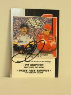 Dale Earnhardt Jr Autographed 2002 Trackside 90 Card