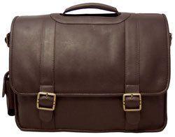 David King Leather Porthole Laptop Briefcase Business Case w Shoulder
