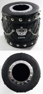 DAD VIP Style Leather & Crystal Tissue Box for Home or Car USE