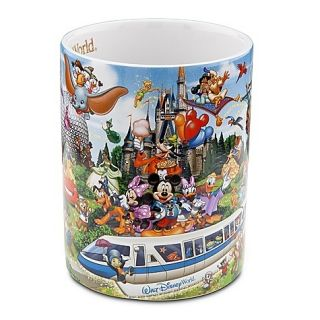 New Disney World Parks Storybook Attractions Large Ceramic Coffee Tea