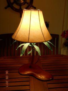 Lamp Original Copper Sculpture by Blaine Tropical Beach Decor