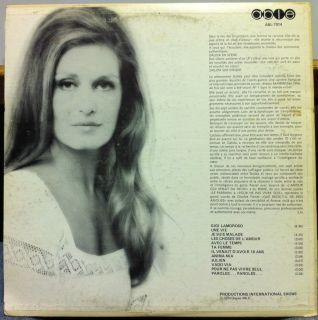DALIDA une vie gigi lamoroso LP Mint  ABL 7014 Canada French 1974