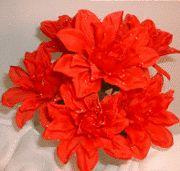 Dahlia Flowers Red Silk Flower Bush Wedding Bridal Bouquet