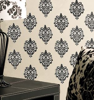 Beautiful Baroque Vinyl Decal Damask Black Deco Wallies Decals