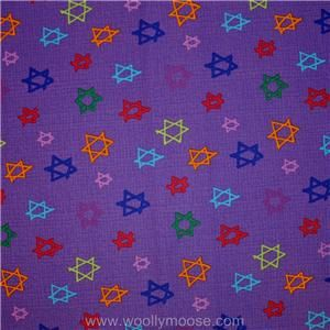 Half Yard Star David Hallmark Purple Free Spirit Chanukah Hanukkah