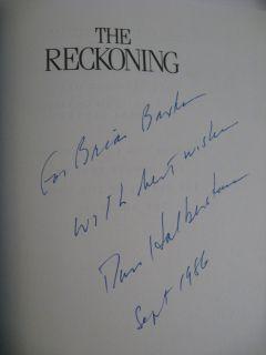 1986 David Halberstam The Reckoning Signed Ford Nissan