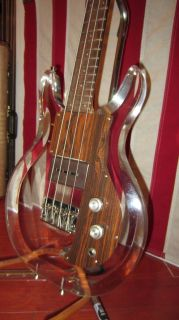 Vintage 1969 Ampeg Dan Armstrong Lucite Bass Guitar See Through EX