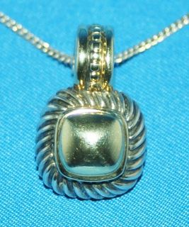 DAVID YURMAN AUTHENTIC STERLING SILVER AND 14KY GOLD PENDANT ENHANCER