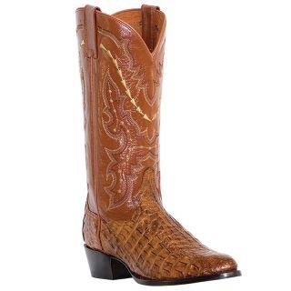 Dan Post Mens Birmingham 13 Caiman Cowboy Boots Cognac DP2387 Size