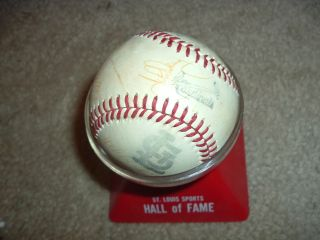 St Louis Cardinals Signed Baseball w Simmons Kessinger 9 Others