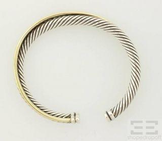 David Yurman 18K Yellow Gold & Sterling Silver Cable Bracelet