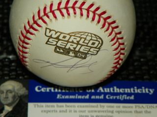 David Ortiz Signed 2004 World Series Baseball PSA DNA Authenticated